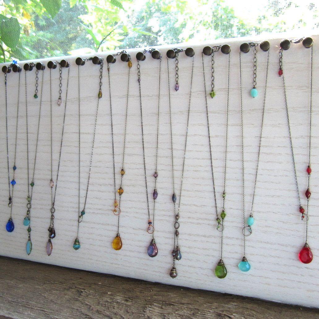 Long Necklace Display Board Diy Jewelry Display Jewellery