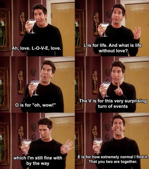 Photo of friends tv show quotes   Season 10 Episode 02 – The One where Ross is FINE