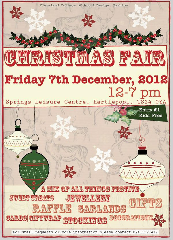 Fair Flyer Christmas Fayre Ideas Christmas Craft Fair Christmas Poster