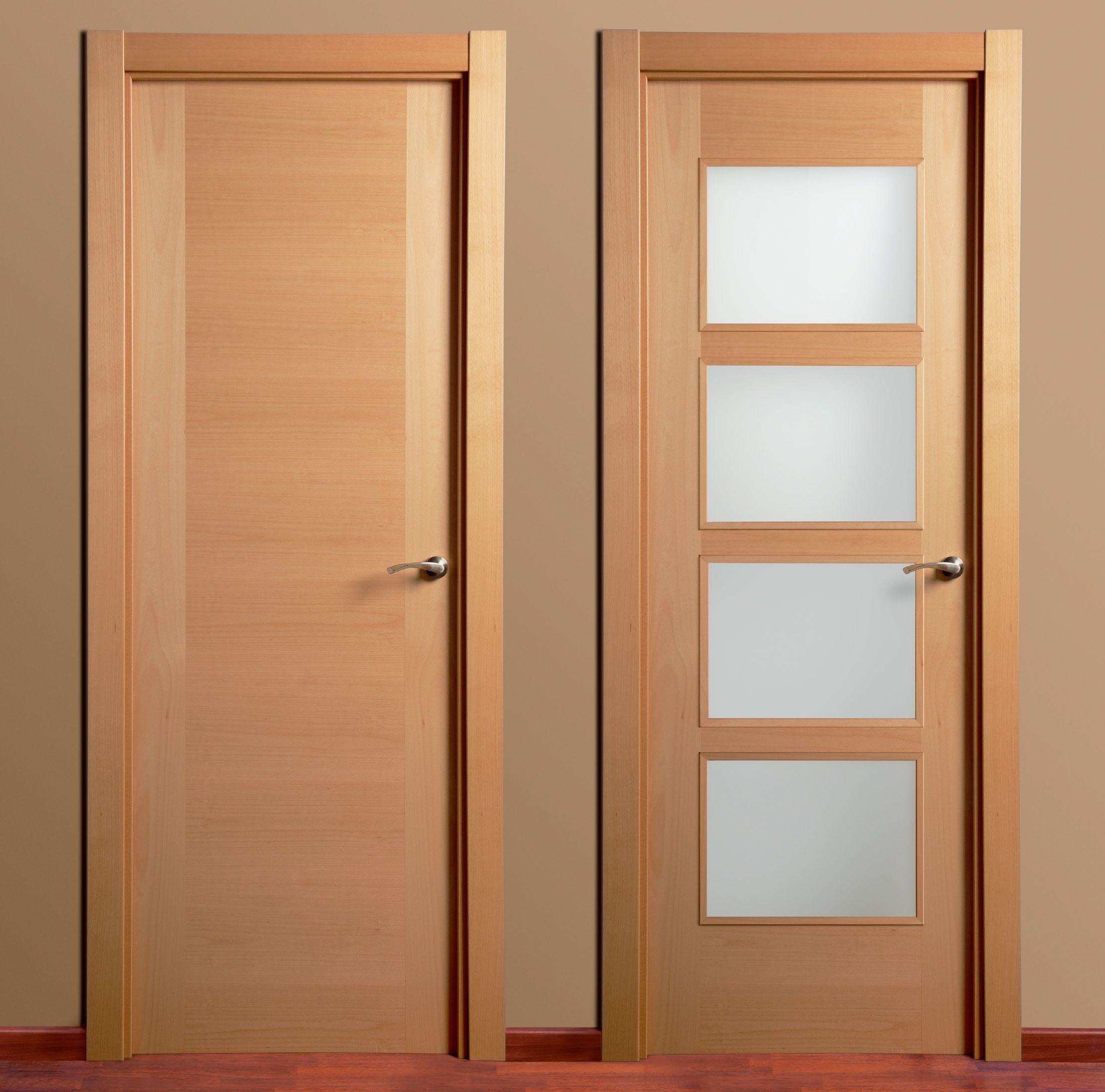 Puerta madera montante al hilo puertas carsal socios for Puertas interiores antiguas madera