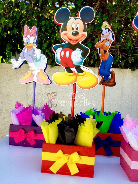 Minnie Mouse fiesta set para centro de mesa niños cumpleaños de cumpleaños y Daisy
