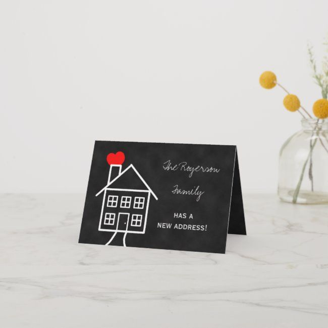 change of address announcement note card  zazzle