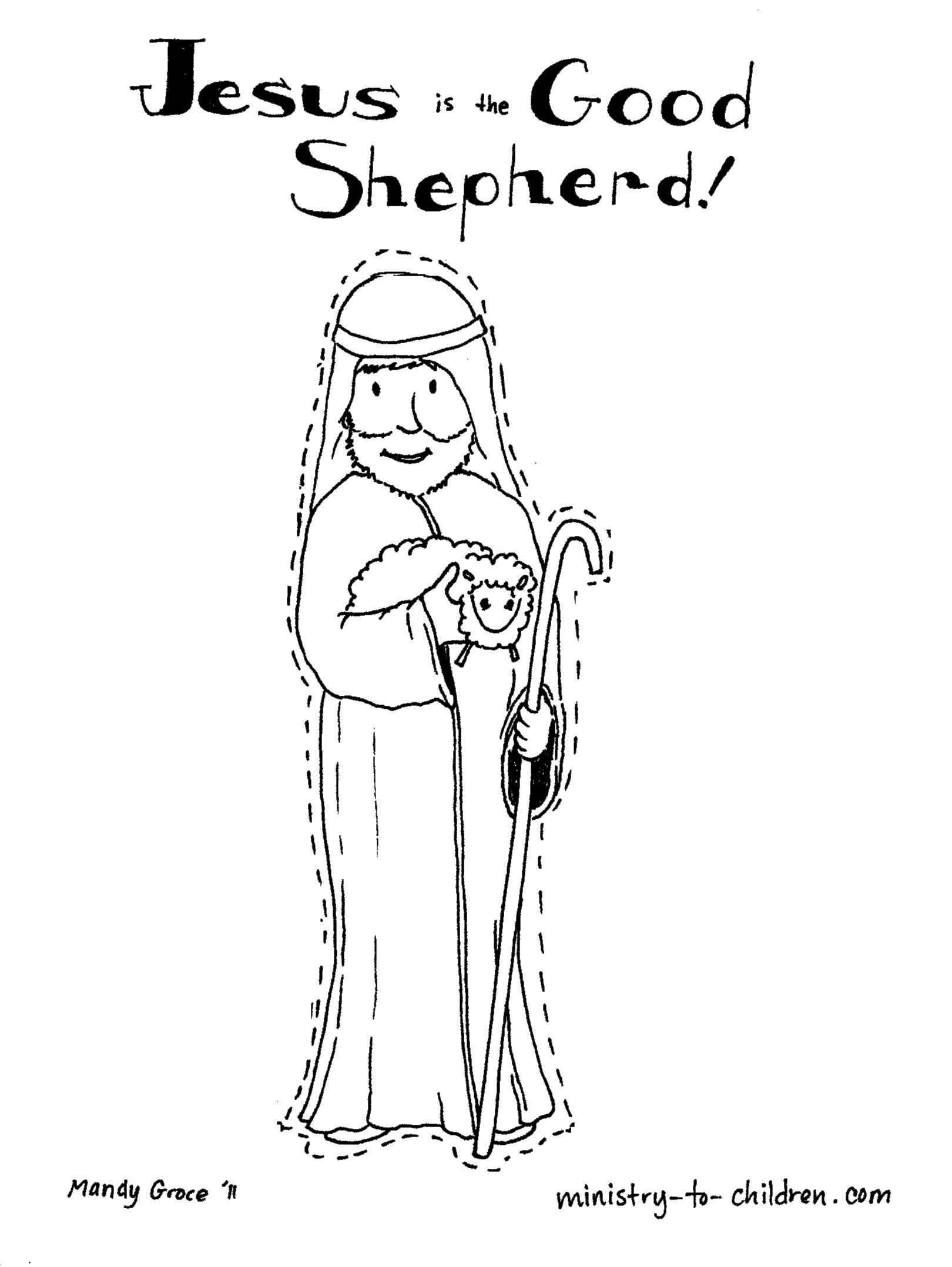 jesus the sheperd coloring pages | Pin by Vanessa Lim on Education | Preschool bible, Bible ...