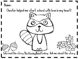 kindergarten at heart the kissing hand packet free coloring page - The Kissing Hand Coloring Pages