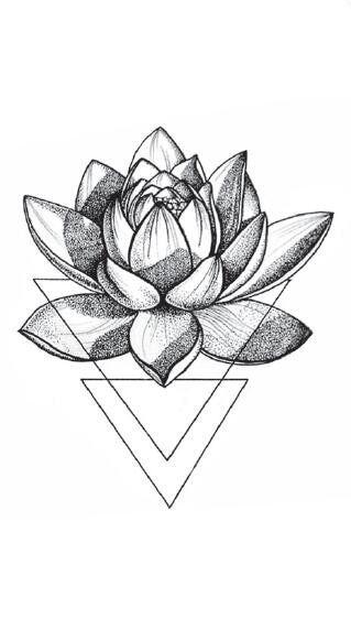 US $0.99  3D Triangle Lotus Temporary Tattoo Sticker Waterproof Women Girls Makeup Body Art Fake Tattoos 10.5X6cm Temporary Tattoos    - AliExpress