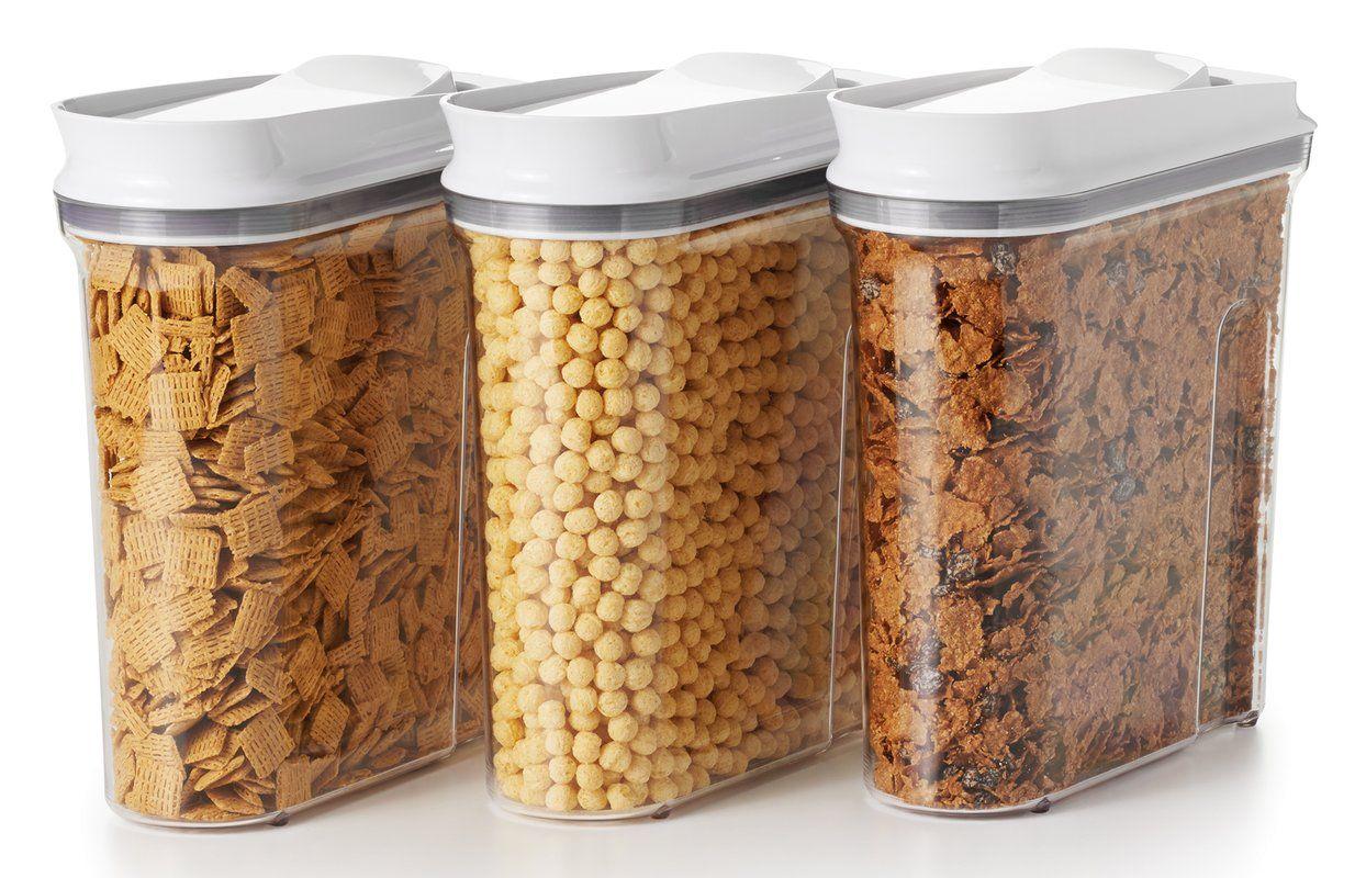Good grips pop cereal dispenser airtight food storage