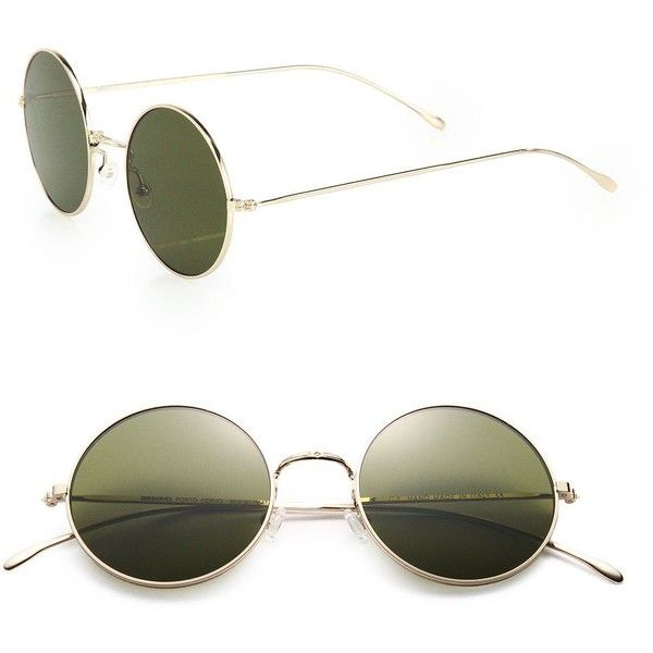 7dbd7c9bc3 Illesteva Porto Cervo 57MM Round Sunglasses ( 205) ❤ liked on Polyvore  featuring accessories