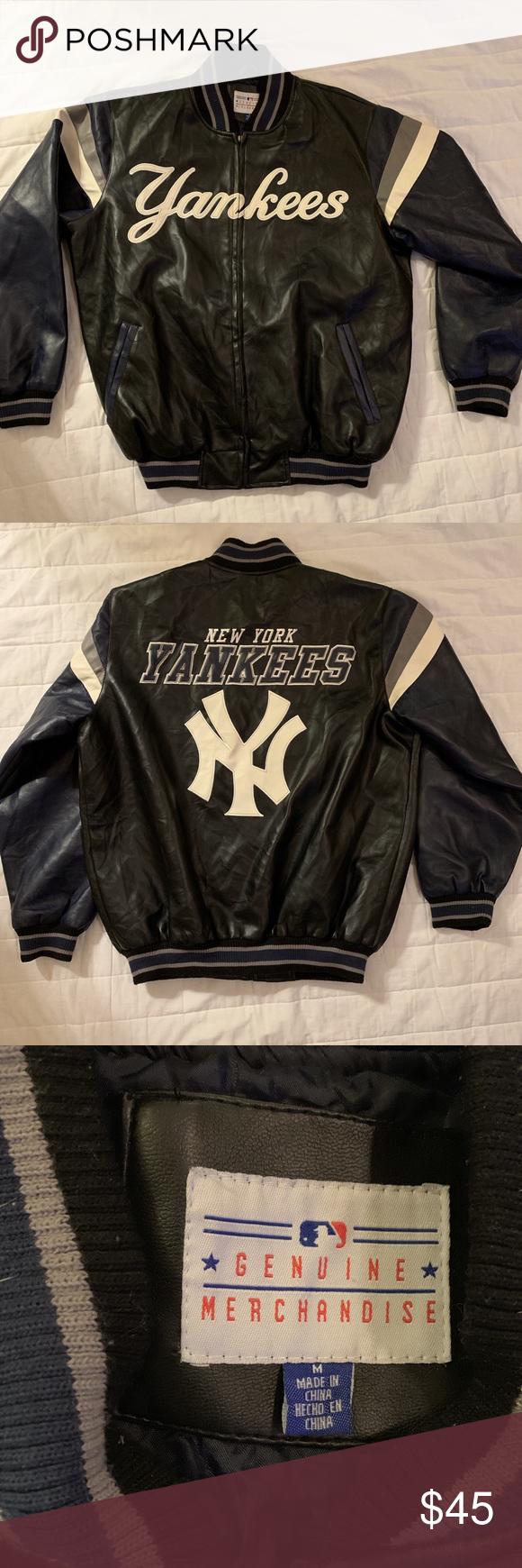 New York Yankees Jacket New York Yankees Vegan Varsity Jacket Jacket Is Not Leather But Looks Like Leather It S Made By New York Yankees Mlb Jackets Jackets [ 1740 x 580 Pixel ]