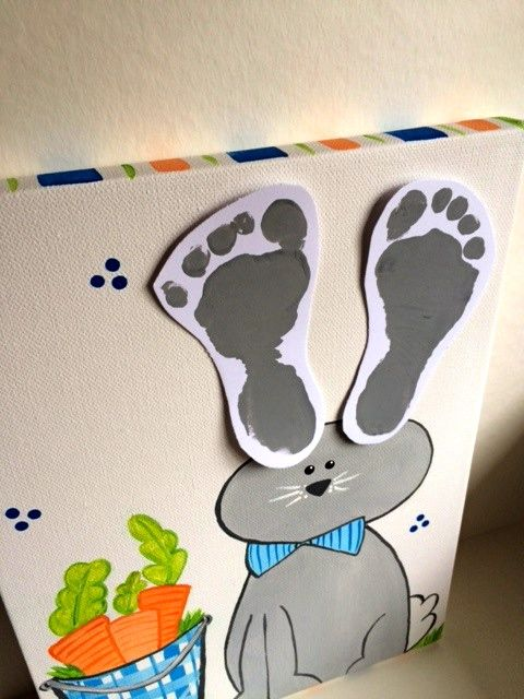 Print your little one's feet on this hand painted canvas. Hello Sugar designs on Etsy!