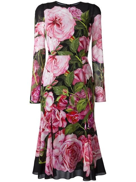 6a83be1aa92 DOLCE & GABBANA Rose Print Dress. #dolcegabbana #cloth #dress ...