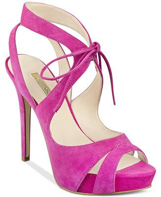 GUESS Women's Hedday Ankle-Tie Strappy Platform Dress Sandals - Sandals -  Shoes - Macy's