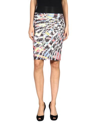JUST CAVALLI Knee Length Skirt. #justcavalli #cloth #dress #top #skirt #pant #coat #jacket #jecket #beachwear #