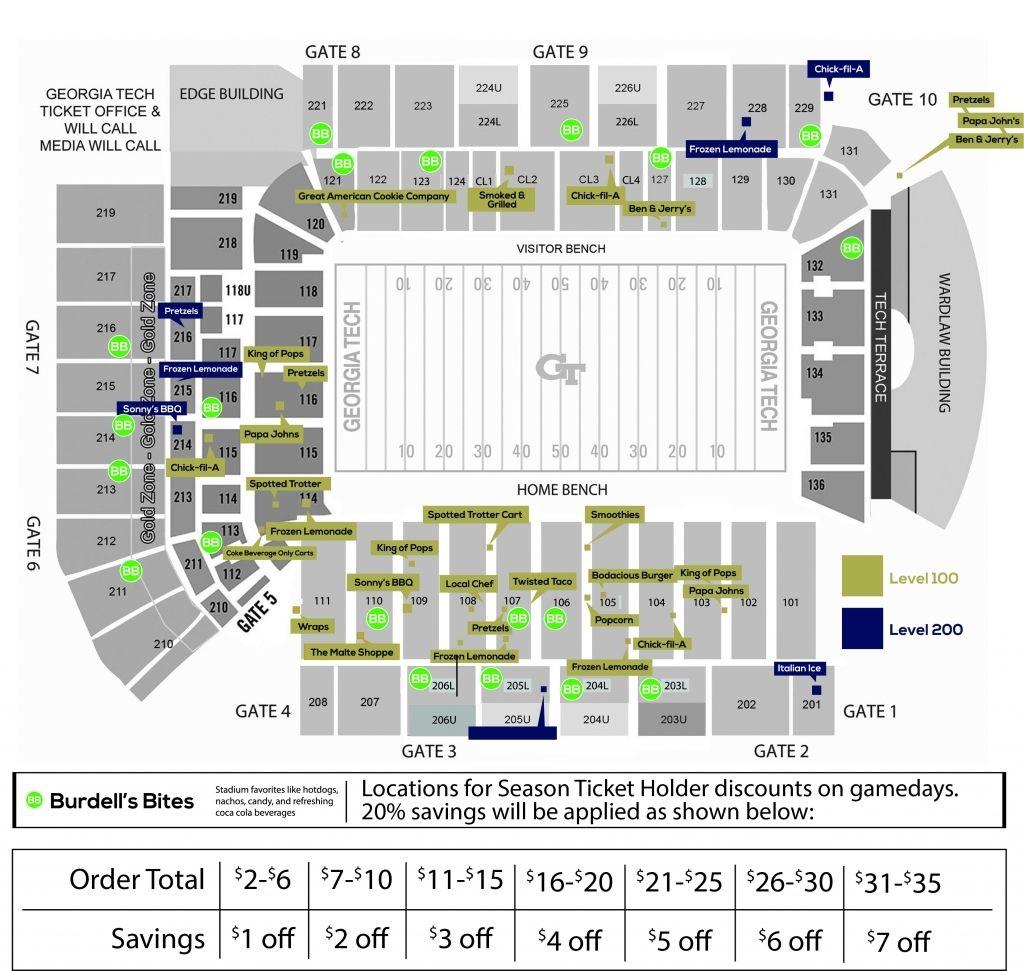 Bobby Dodd Stadium Seating Chart Seating Charts Chart Bobby Dodd