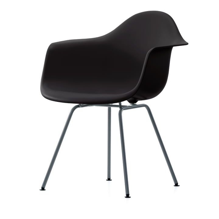 Vitra Eames Plastic Armchair DAX, verchromt / weiß