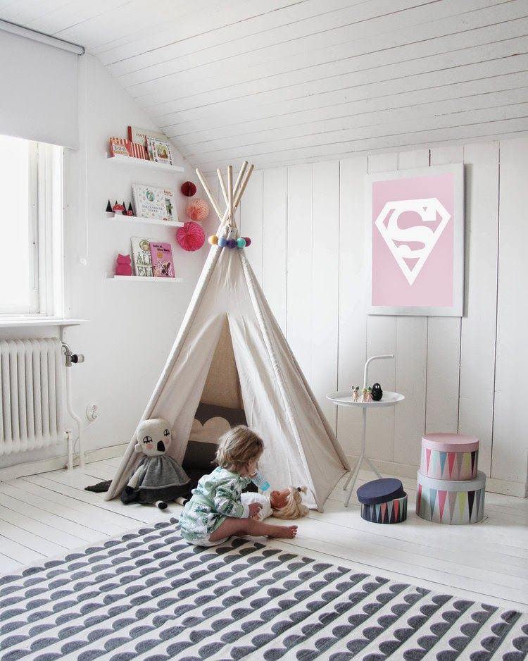 My scandinavian home della 39 s delightful room home and family kinderzimmer kinder zimmer - Zelt kinderzimmer ikea ...