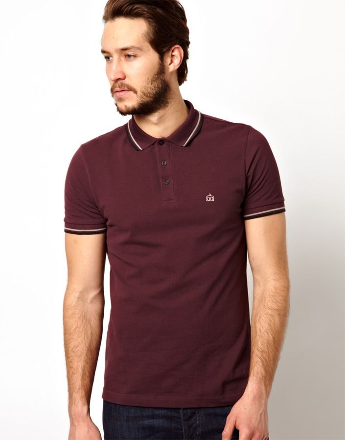 4e213ae3c Merc Polo Shirt with Tipping on shopstyle.com   Mens Fashions in ...