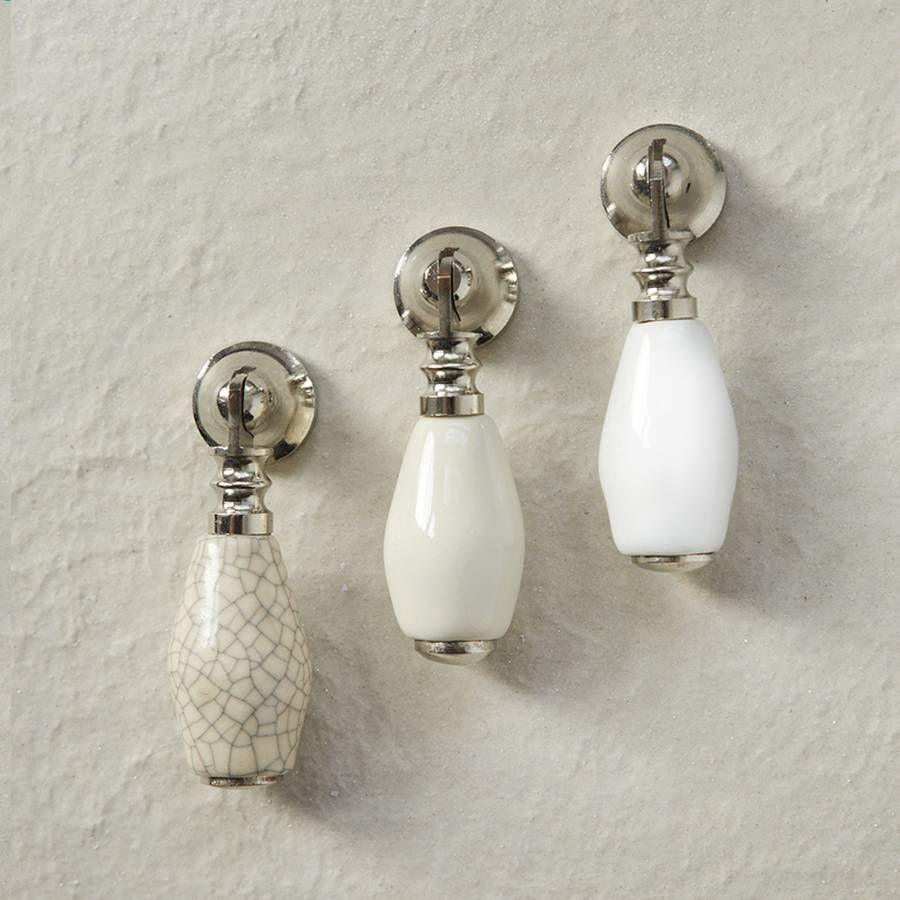 Ceramic Cream White Cabinet Drop Pull
