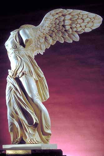 Greek Art - A famous late Hellenistic statue is the 'Nike', or 'Winged  Victory'. my favorite statue, breathtaking in person