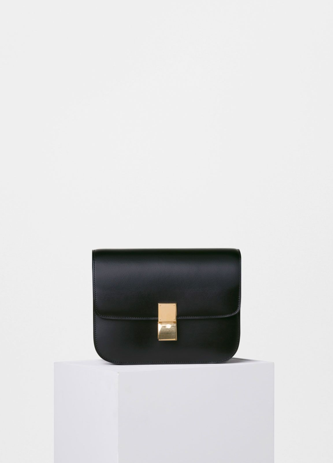 d302704f7 Medium Classic Shoulder Bag in Box Calfskin - Céline