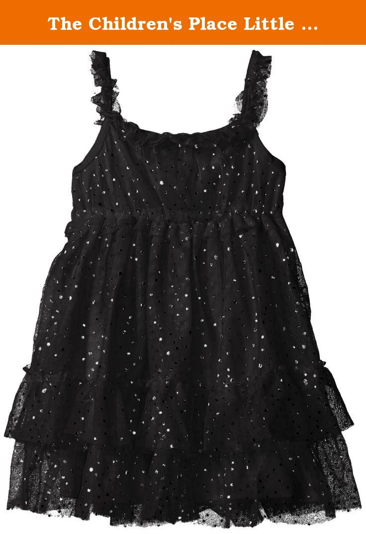 The Children S Place Little Girls And Toddler Sparkle Dot Mesh Dress Black 5t She Ll Insist On Wearing This Frilly Frock Mesh Dress Dresses Black Mesh Dress [ 1073 x 736 Pixel ]