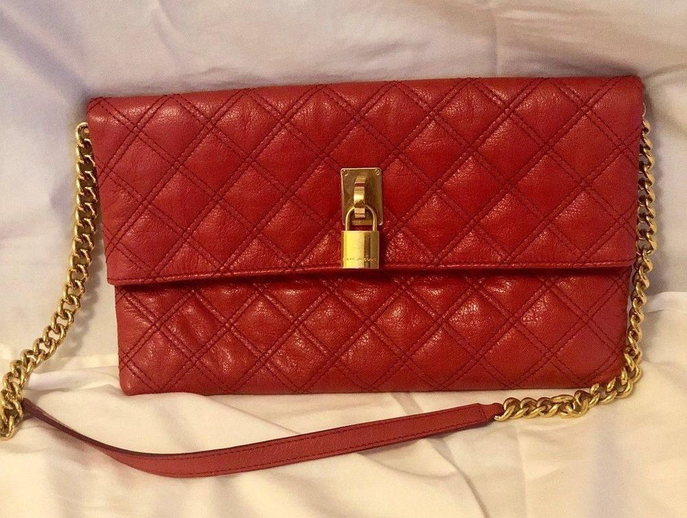 a0cee438e27 Marc Jacobs Quilted Coral Clutch with removable strap #fashion #clothing  #shoes #accessories #womensbagshandbags (ebay link)