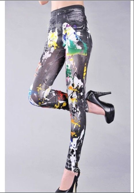 Paint Stained Jeggings