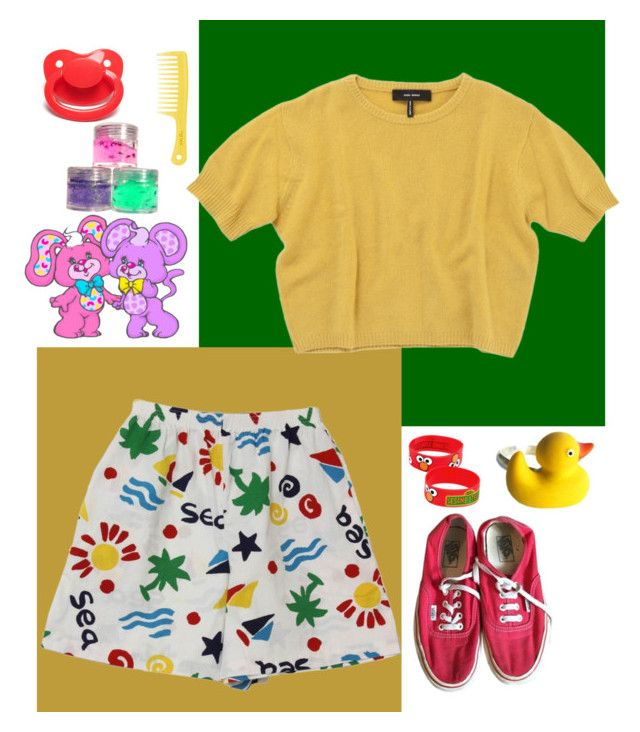 """""""Generic"""" by jokermanor ❤ liked on Polyvore featuring Isabel Marant, Vans, Sesame Street and kidcore"""
