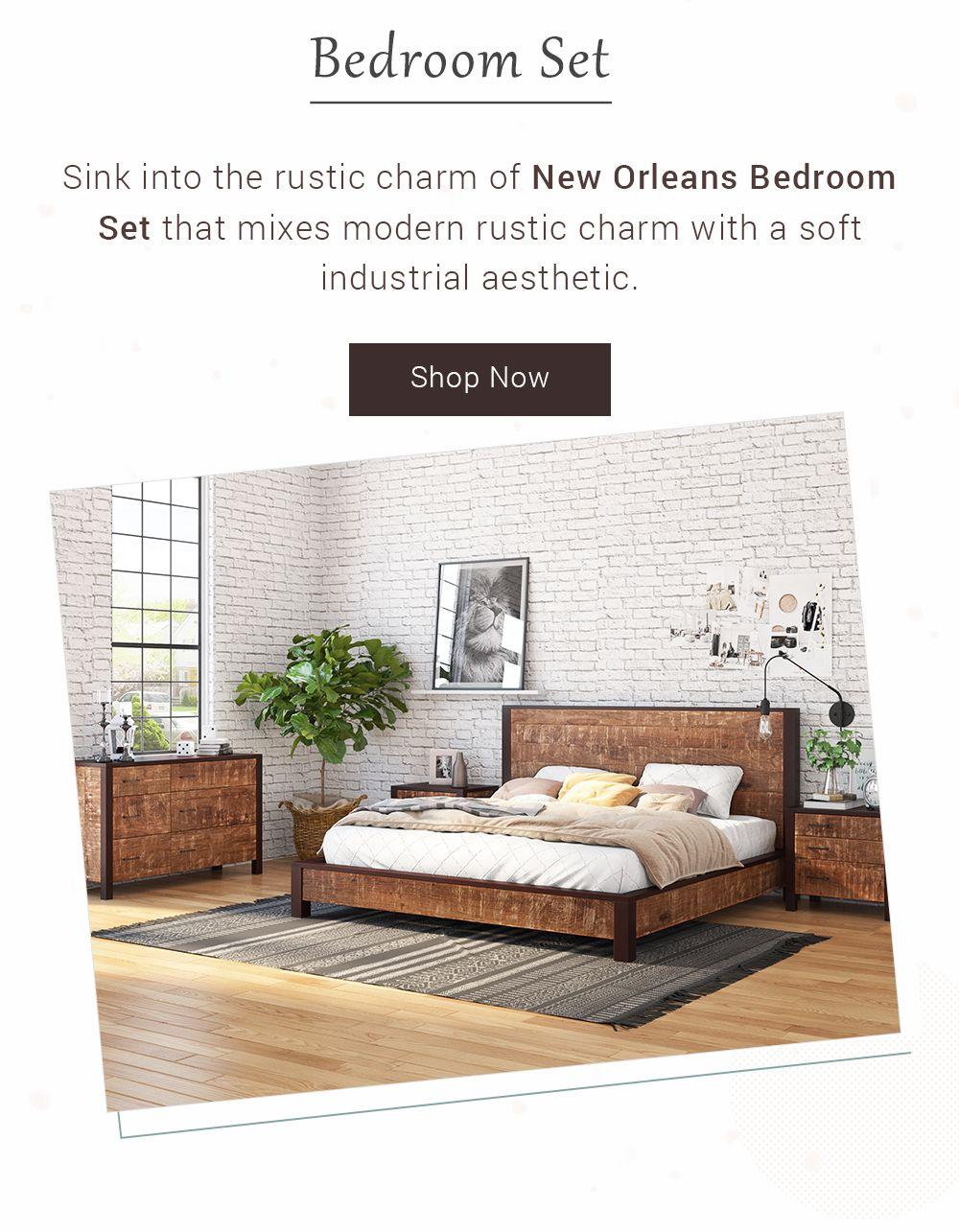 4 piece bedroom set on new orleans solid wood 4 piece bedroom set bedroom set solid wood platform bed rustic platform bed pinterest
