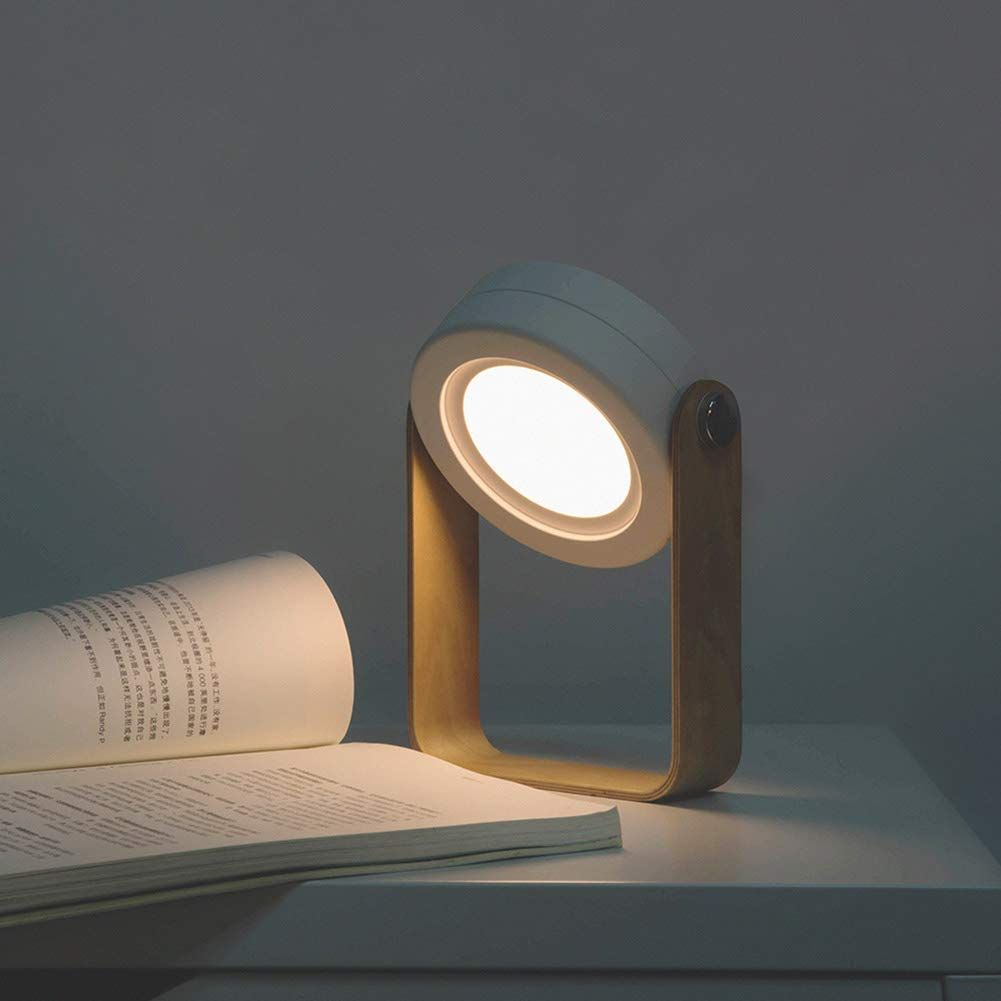 Battery Operated Lamp Rechargeable Multi Function Lantern Style Portable Led Desk Lamp Flashlight With Wooden H Led Desk Lamp Led Night Light Portable Lantern