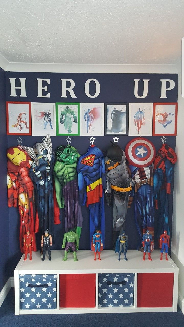 Superhero Marvel Boys Room Navy Stars With Images Boys