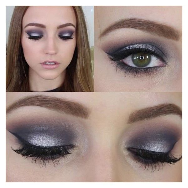 Navy Blue Silver Prom Makeup
