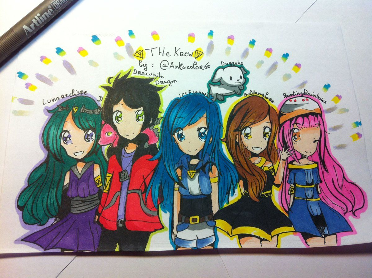 Itsfunneh On Twitter Awesome Gift From Roblox Thanks Roblox Itsfunneh On Twitter Cute Drawings Cute Youtubers Youtube Art
