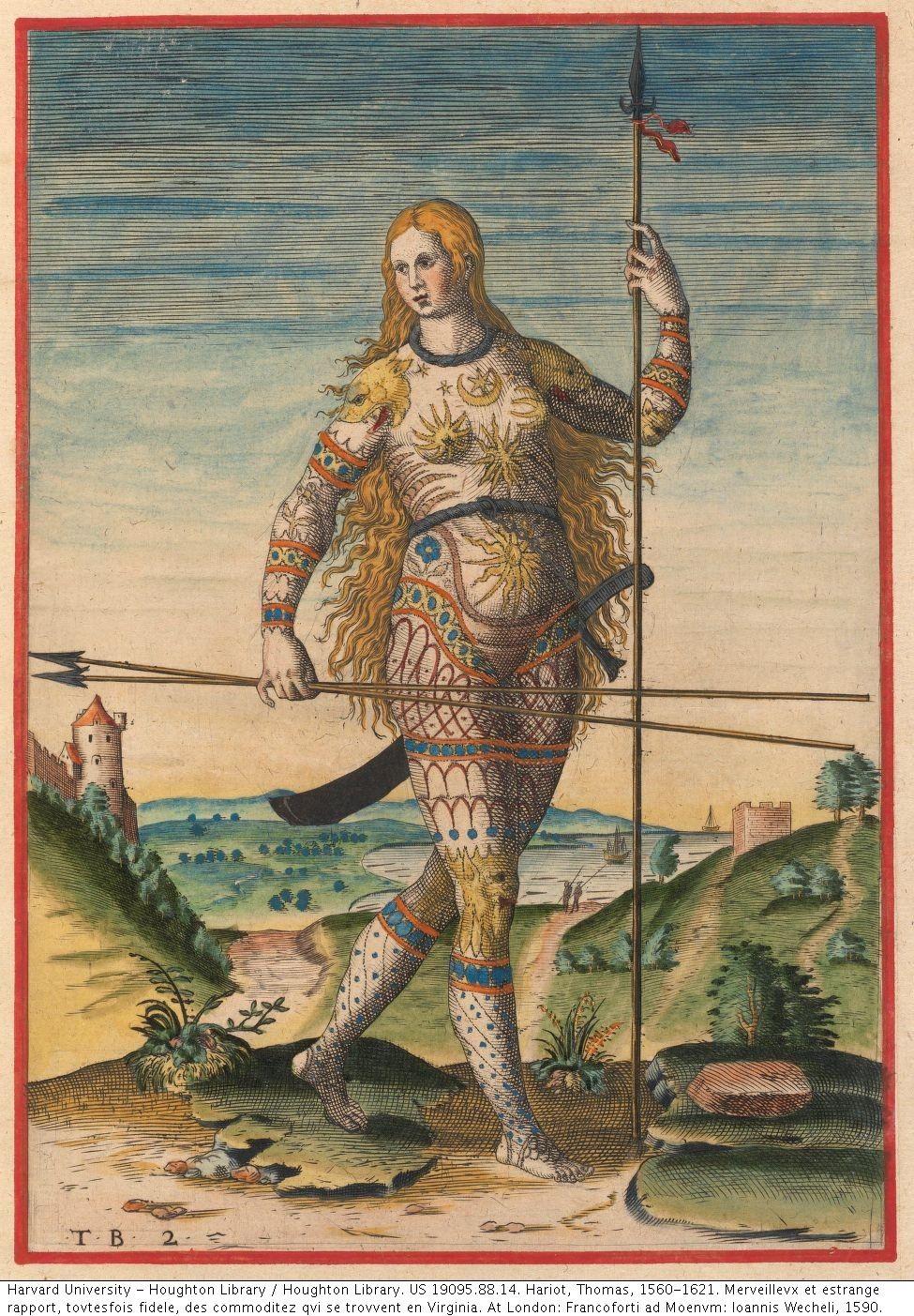 "The true picture of a woman of the Picts"" Hariot, Thomas, 1560-1621.  Merveillevx et estrange rapport, tovtesfois… | Ancient celts, Pictish  warrior, Celtic warriors"