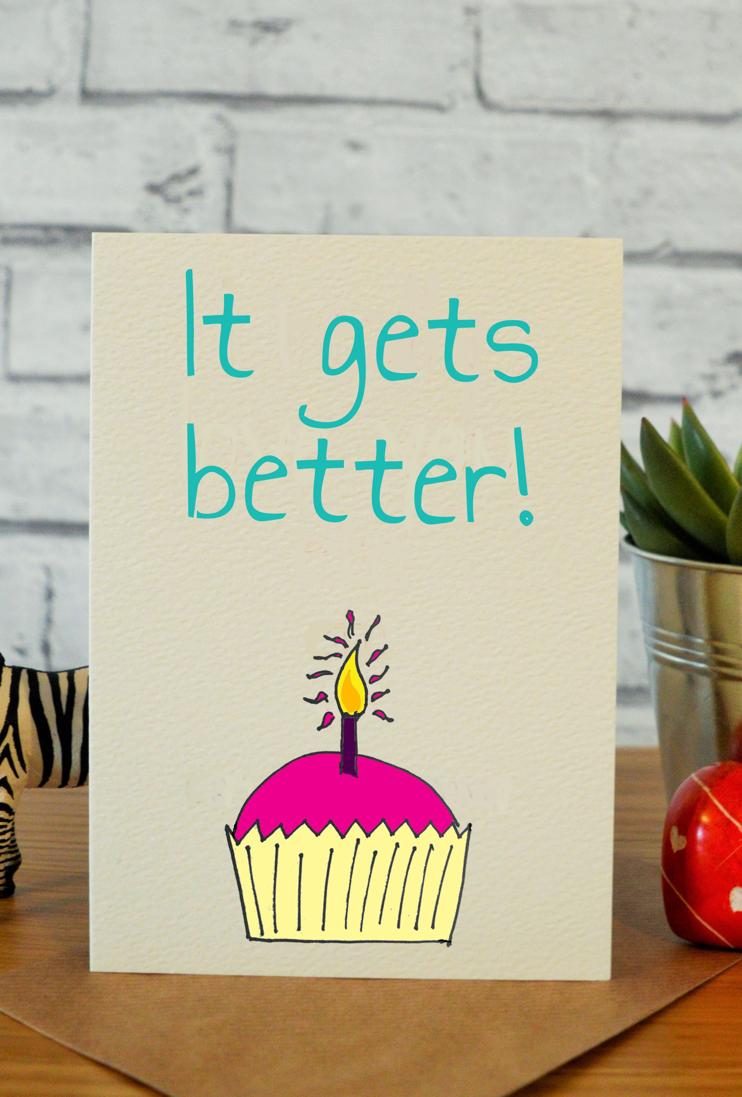 It Gets Better Cards Stuff Cheeky Zebra Pinterest Friend