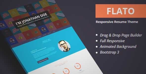 Download and review of Flatoo - vCard, Resume, Personal WordPress - wordpress resume template