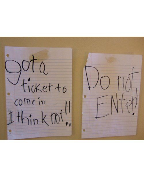 Best Keep,out Door Signs From Kids  Ever , mom.me