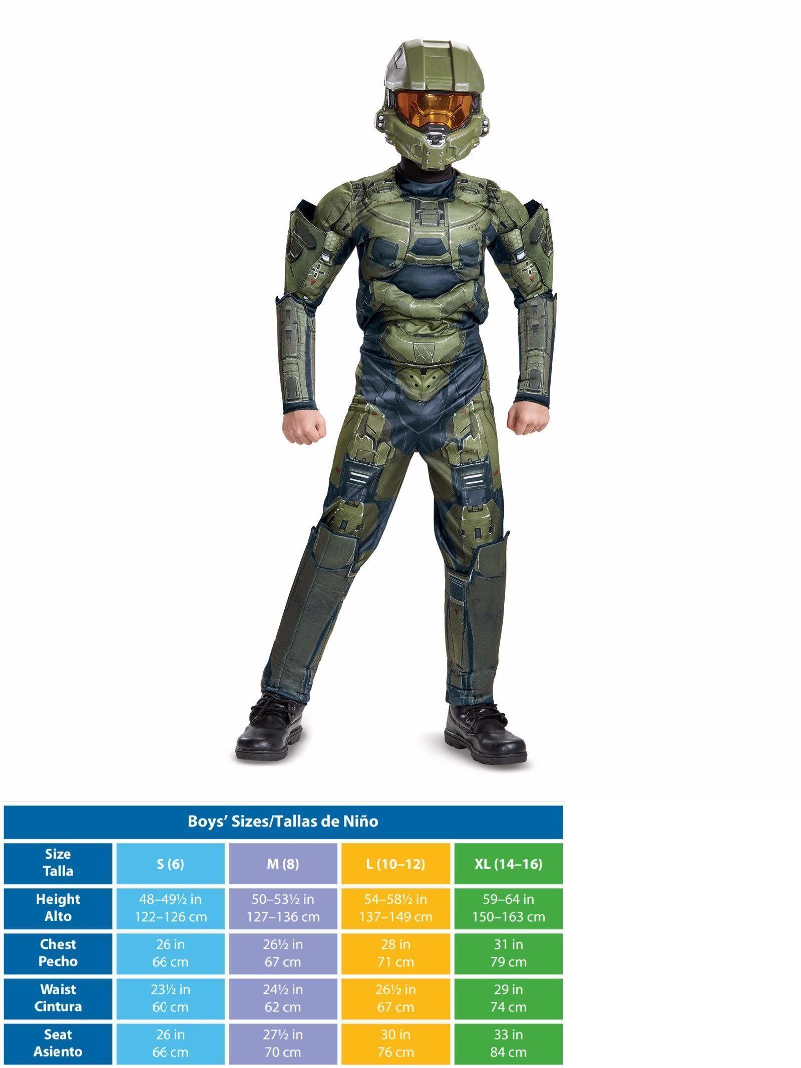 Kids Costumes: Halo Master Chief Classic Muscle Halloween Costume