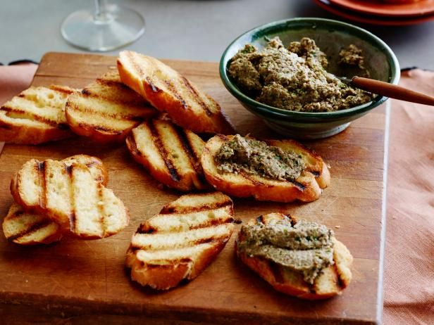 Best thanksgiving appetizer recipes cooking channel crostini mushroom pesto crostini pungent porcini mushrooms plus garlic and parmesan give a great kick to giada de laurentiis pesto thats balanced with crunchy forumfinder Image collections