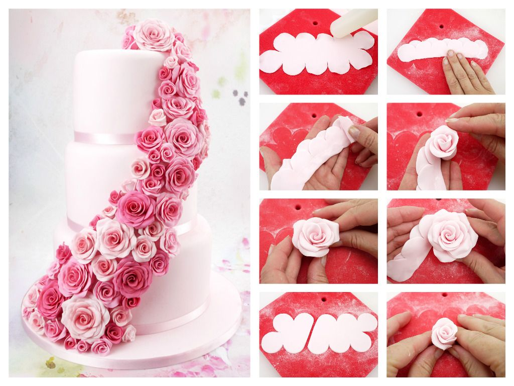 26 best cake craft world mini tutorials images on pinterest ariel quick easy sugar roses using the easiest rose ever cutter izmirmasajfo
