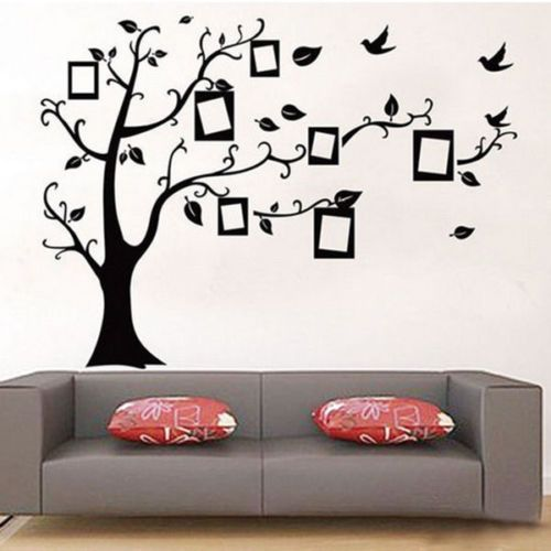 baum wandaufkleber wandsticker dekoration wandtattoo wanddeko wanddekoration ebay do it. Black Bedroom Furniture Sets. Home Design Ideas