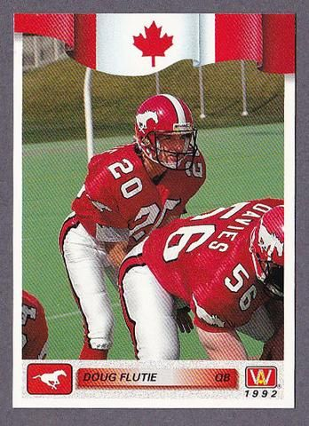hot sale online d3354 abeb0 Doug Flutie CFL card 1992 All World #85 Calgary Stampeders ...