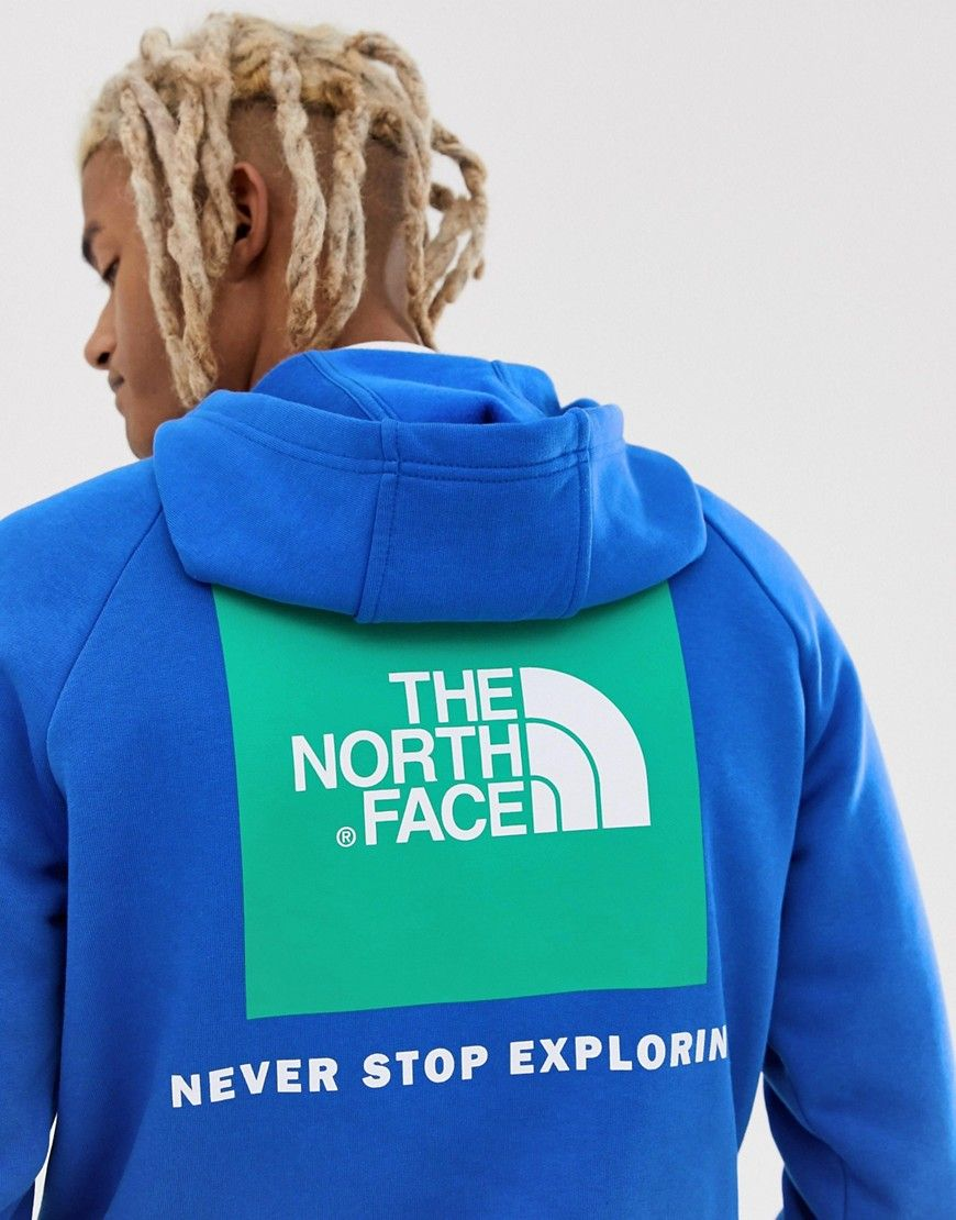 8a31c3e0f THE NORTH FACE RAGLAN RED BOX HOODIE IN BLUE - BLUE. #thenorthface ...