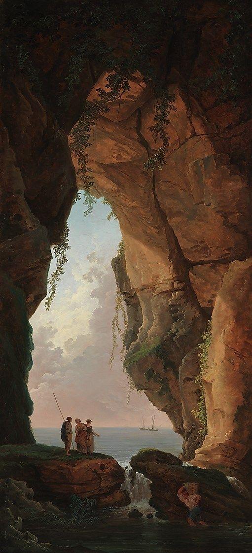 The Mouth of a Cave Hubert Robert, 1784