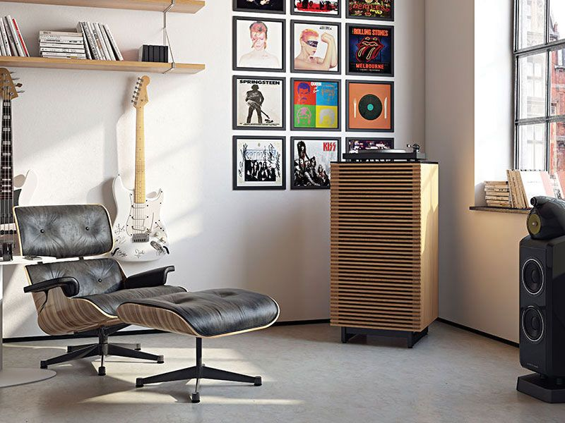 Corridor 8172 audio tower by bdi furniture house and home the corridor 8172 audio music tower is an audiophile dream with adjustable interior compartments flow through ventilation and a satin etched glass tops planetlyrics Images