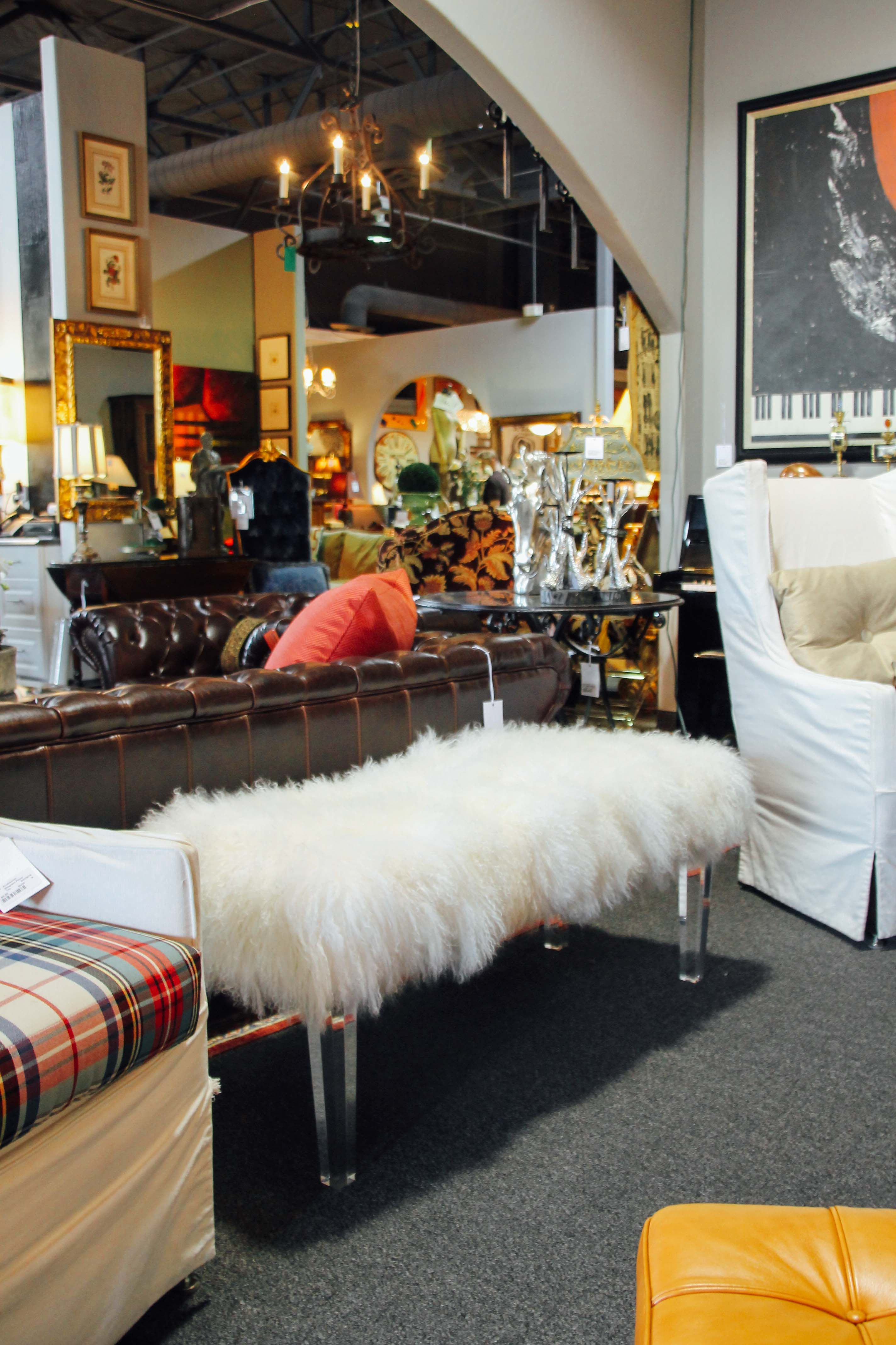 Sheep Skin Bench For The Foot Of The Bed Found At Avery Lane Fine  Consignment In · Consignment FurnitureScottsdale ...