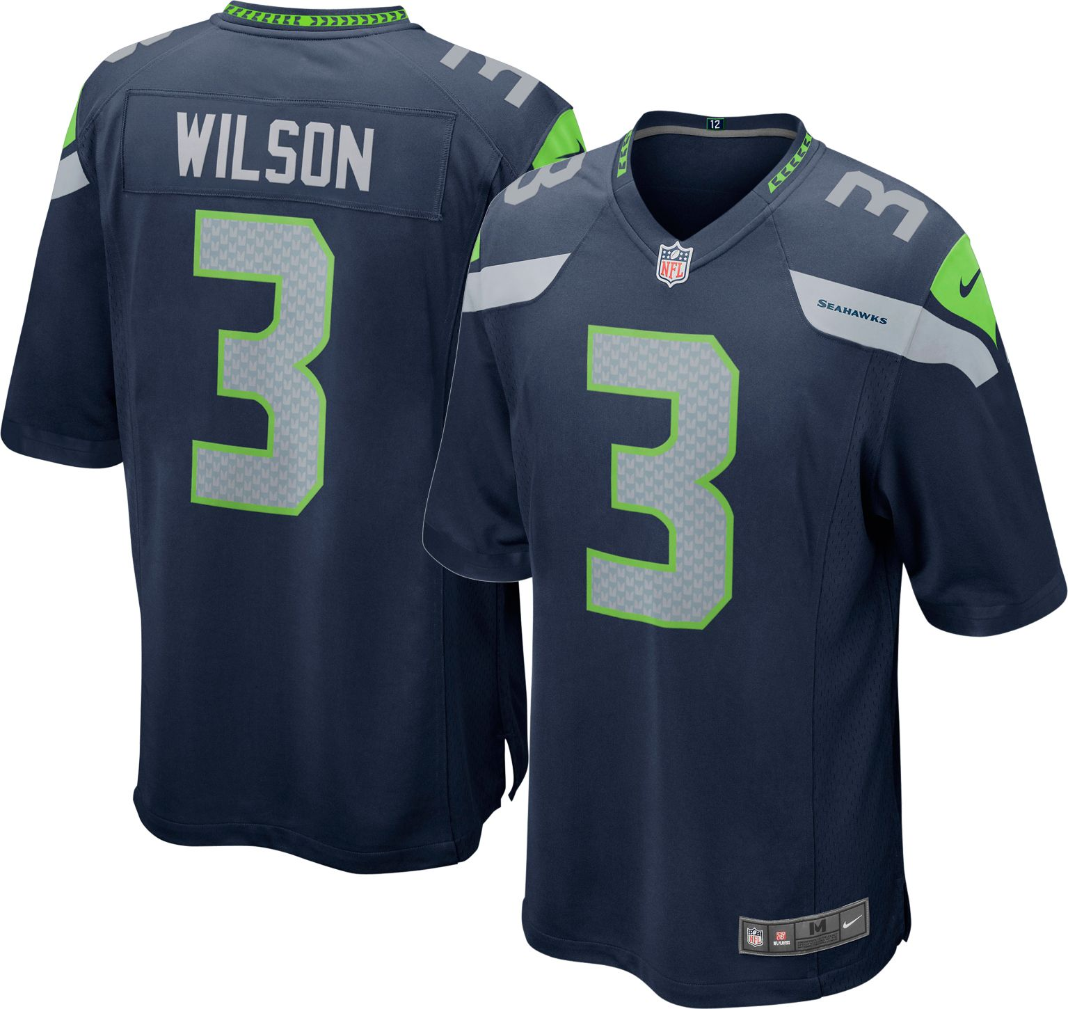 Nike Men s Home Game Jersey Seattle Russell Wilson  3 585bbd9f1493a