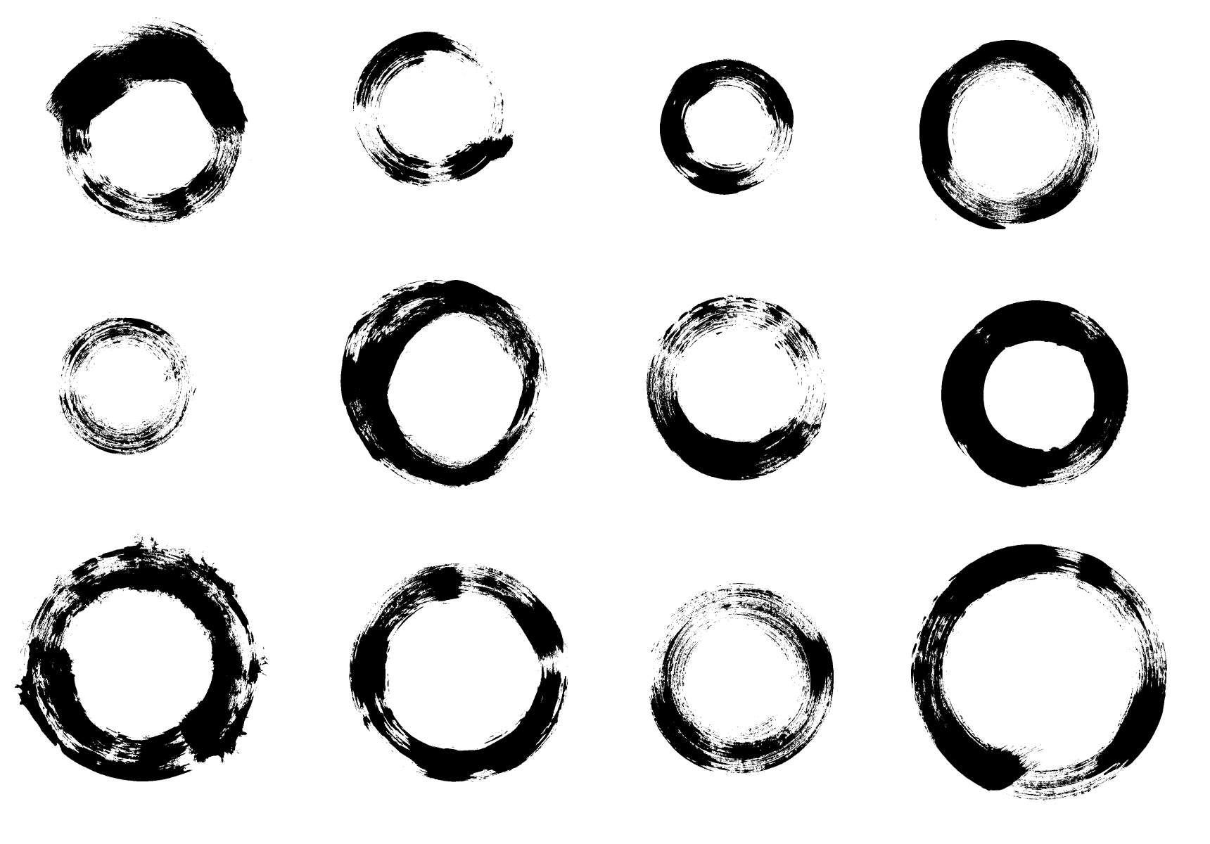12 Grunge Circle Brush Stroke Png Transparent Onlygfx Com Brush Stroke Png Brush Strokes Brush