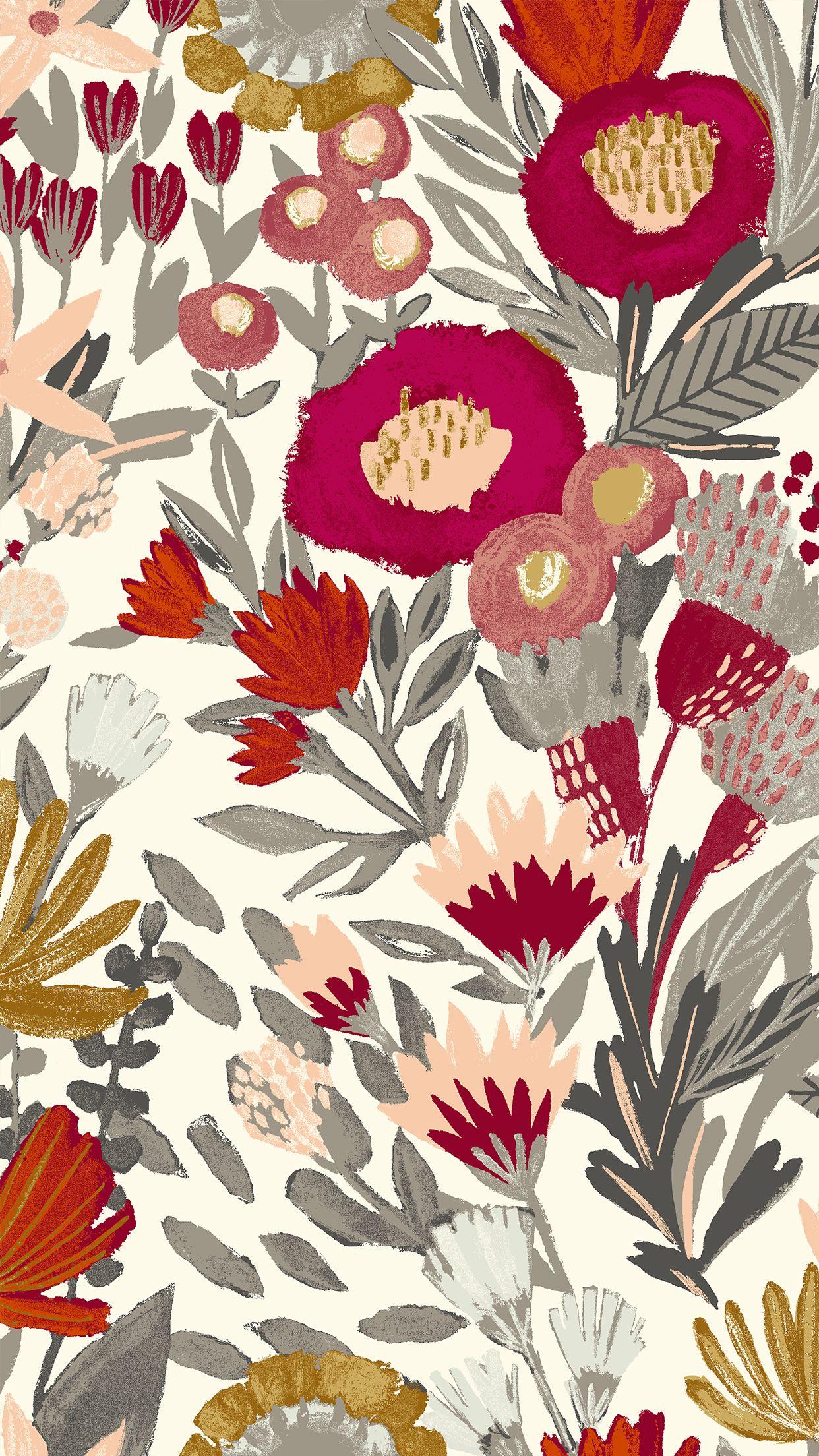Westelm Brushstroke Floral Mobile Jpg 1242 2208 Iphone