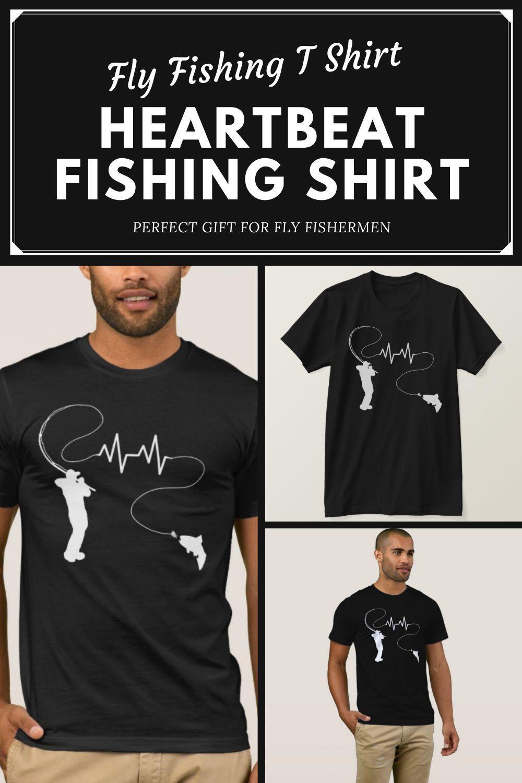 Fishing Heartbeat Fly Fishing Trout T Shirt Zazzle Com Fishing Outfits Fly Fishing Fishing Shirts