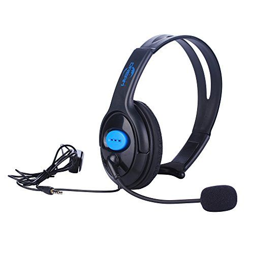 Megadream Adjustable Live Chat Gaming 35mm Audio Jack Wired Headset Headphone With Boom Mic And Voice Control Fo Sony Playstation Gaming Headphones Playstation